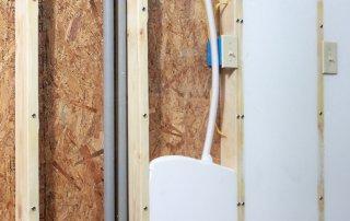 USA Insulation premium foam insulation filling a wall.